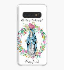 Our Lady Virgin Mary Floral Design Christian Religious Catholic Madonna Prayer Religion Faith Case/Skin for Samsung Galaxy