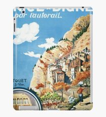Scenic train from Nice to Digne, vintage travel Poster iPad Case/Skin