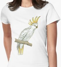Sulfur crested cockatoo Women's Fitted T-Shirt