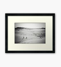 The journey of a thousand miles  Framed Print