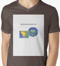 QUEENSLAND EH Men's V-Neck T-Shirt