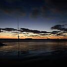 Fishing on Sunset by John Davies