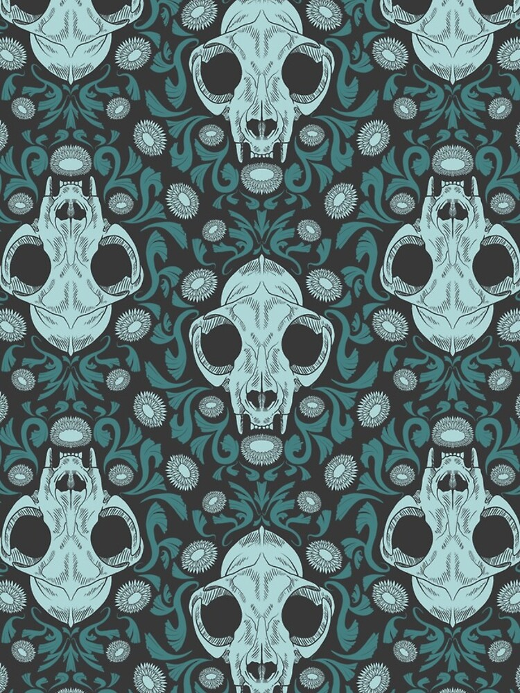 Damascats - Teal by DeadHeadDarling