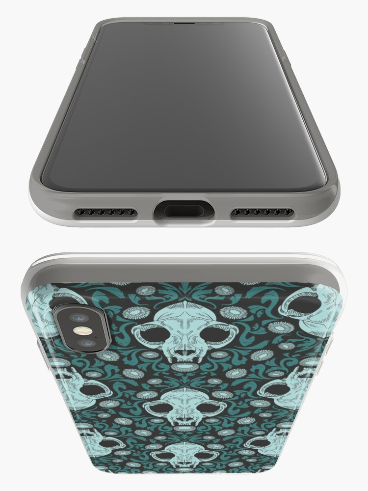 Alternate view of Damascats - Teal iPhone Case & Cover