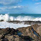 High seas at St Cadocs point by eddiej