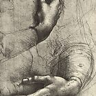 Study of a Woman's hands, drawn by Leonardo Da Vinci, 1452 – 1519 by artfromthepast