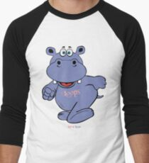 Hippo Loops Lets go! Men's Baseball ¾ T-Shirt