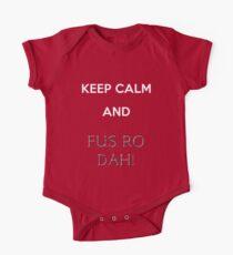keep calm and fus ro dah Kids Clothes
