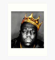 The King Notorious B.I.G Art Print