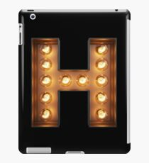 H Initial Neon Light iPad Case/Skin