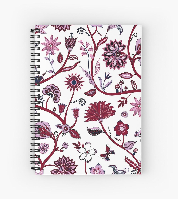 Fantasy Indian Floral - elegant, romantic pattern by Cecca Designs by Cecca-Designs