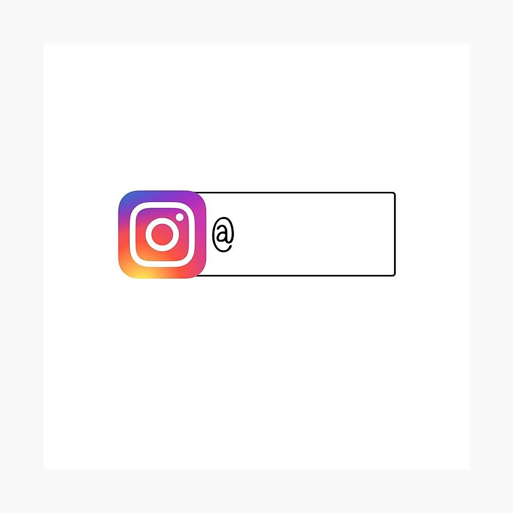 Folge mir auf Instagram Fotodruck