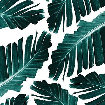 Tropical Banana Leaves Dream #1 #foliage #decor #art by anitabellajantz