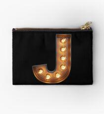 J Initial Neon Light Studio Pouch