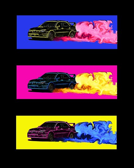 Subaru STi Drift Print by BecauseRaceArt