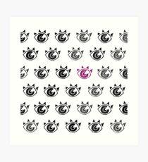 Eye Stamps pattern Art Print
