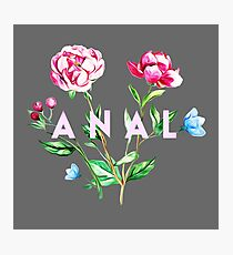 Anal (Flowers) Photographic Print
