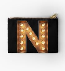 N Initial Neon Light Studio Pouch