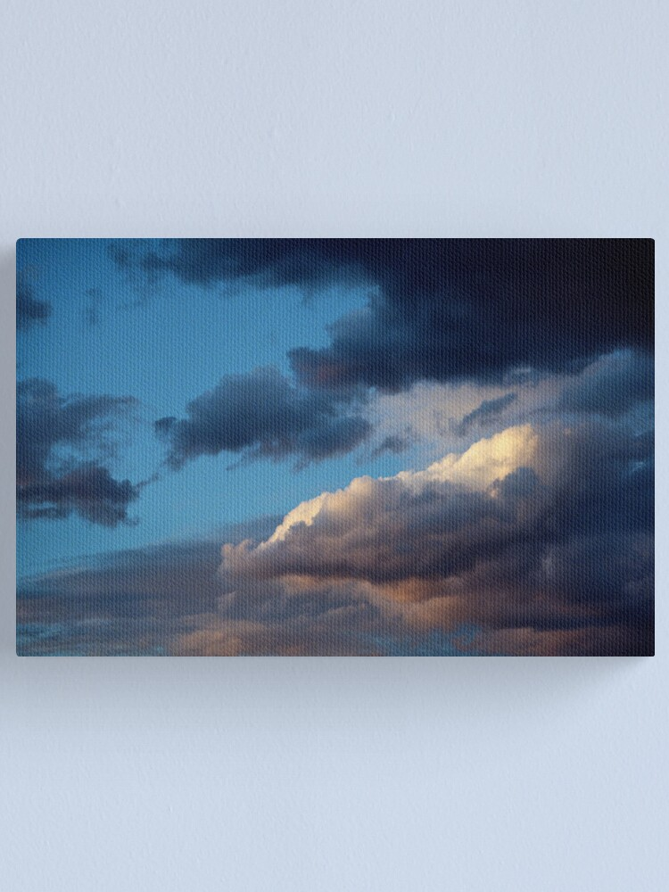 Alternate view of Evening sky at Sunnbüel Canvas Print