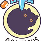 Funny Aquarius Cat Horoscope Tshirt - Astrology and Zodiac Gift Ideas! by Banshee-Apps