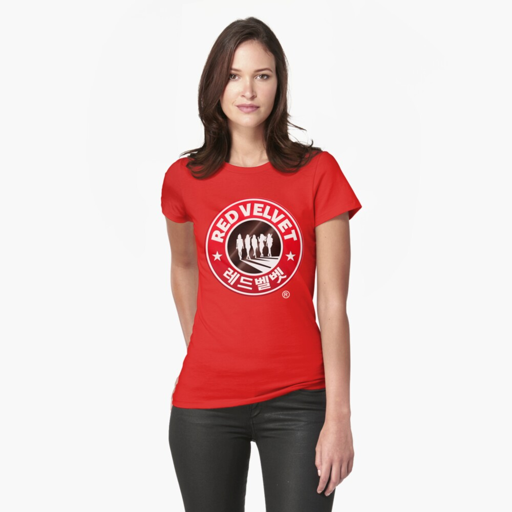 Red Velvet Coffee Fitted T-Shirt