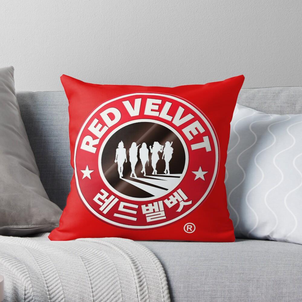 Red Velvet Coffee Throw Pillow