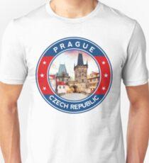 Prague, Praha, Charles Bridge, circle, Unisex T-Shirt