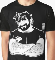 ADAM LIKES CROSSING ARMS - LINEART Graphic T-Shirt