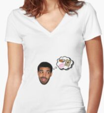 Drake - Bed Mama I'm Sorry - God's Plan Women's Fitted V-Neck T-Shirt