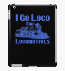I Go Loco For Locomotives Custom Retro Steam Train iPad Case/Skin