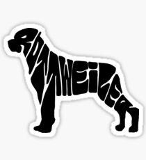 Rottweiler Love Sticker