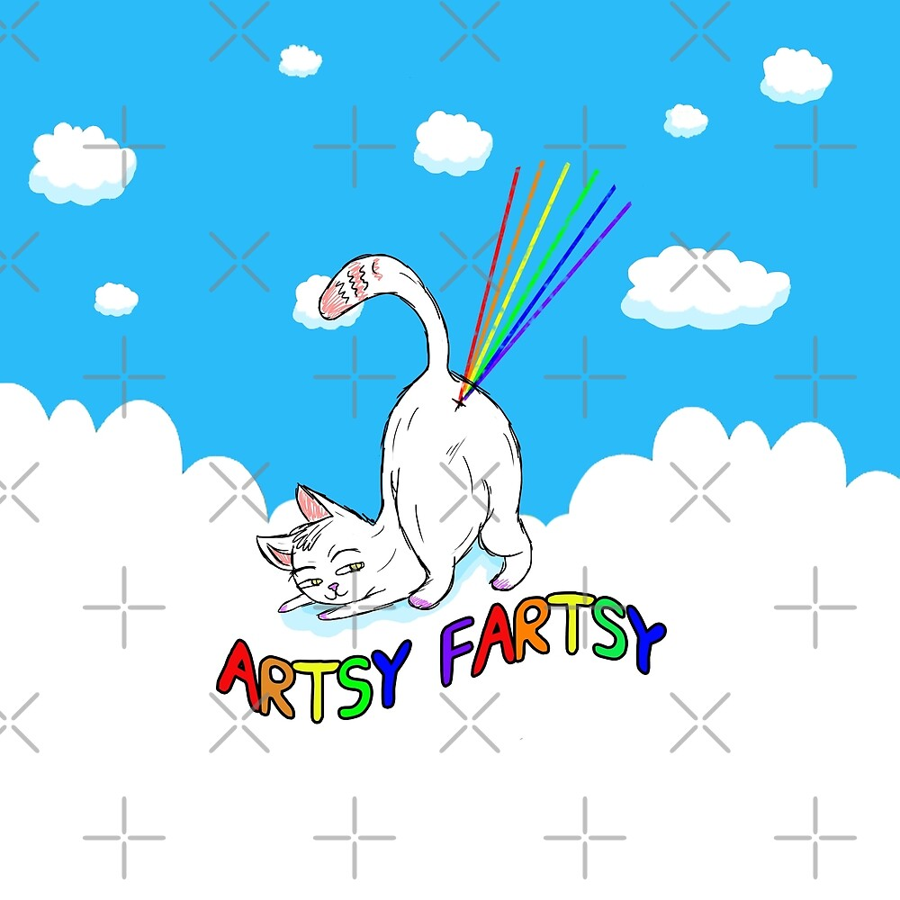 Artsy-Fartsy Cat by Barnyardy