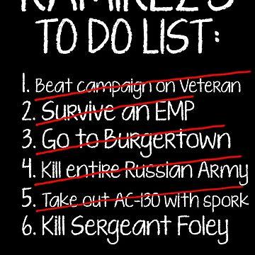 Ramirez's To-Do List by MegaGalactus