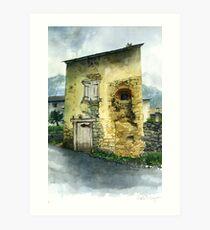 The Old House, Prats Balaguers, Pyrenees Orientales Art Print