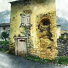 The Old House, Prats Balaguers, Pyrenees Orientales by Mike Glaysher