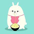 «Conejito gordo comiendo fideos» de EuGeniaArt