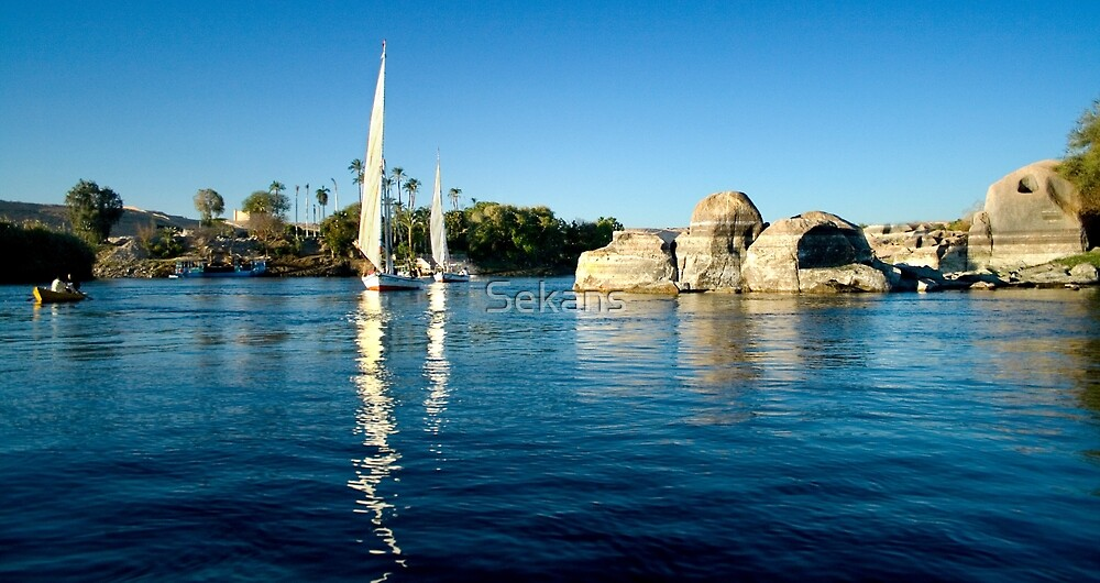 Fellucca's on The Nile by Sekans