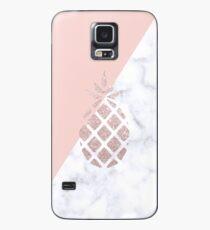 Rose gold glitter pineapple Case/Skin for Samsung Galaxy
