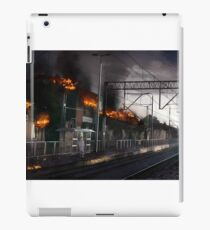 Waiting for the train to arrive. iPad Case/Skin