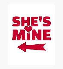 She's mine Photographic Print