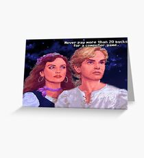 Monkey Island: Never pay more than $20 for a computer game Greeting Card