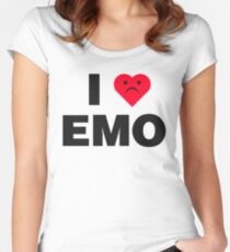 I Heart Emo Women's Fitted Scoop T-Shirt