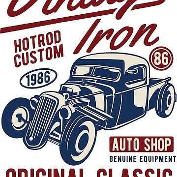 Vintage Iron - Speed And Power - Hotrod Custom 1986 - Original Classic - Real American Iron by flipper42