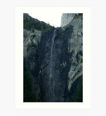 Little flow at BridalVale Falls at Yosemite Art Print