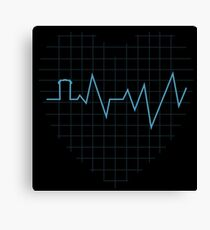 Whovian Heartbeat Canvas Print