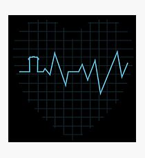 Whovian Heartbeat Photographic Print