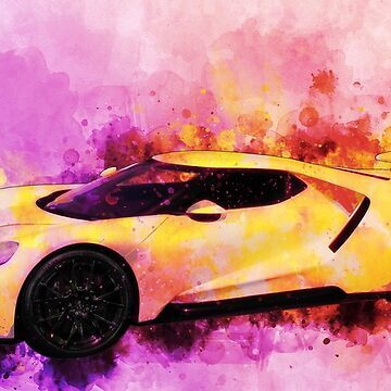 2018 Ford GT Watercolour Tribute to SuperCars - I Don't Know Why! by ChasSinklier