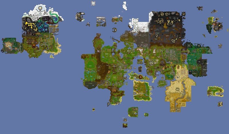 Oldschool runescape world map posters by ragsmaroon redbubble oldschool runescape world map by ragsmaroon publicscrutiny Image collections