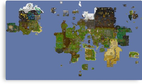 OldSchool Runescape World Map