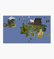 OldSchool Runescape World Map Photographic Print